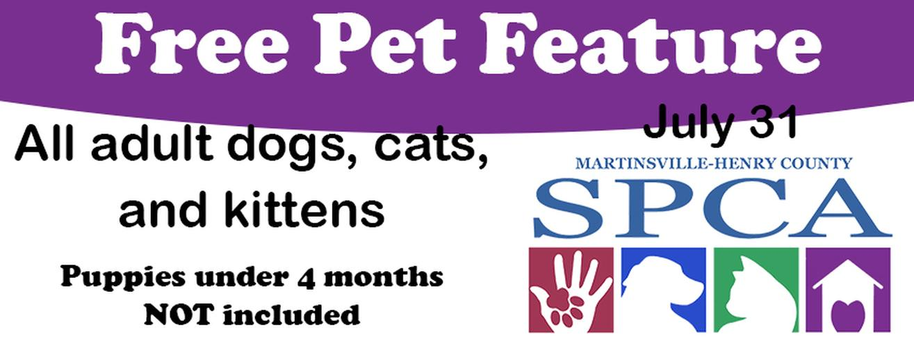 Free Pet Feature